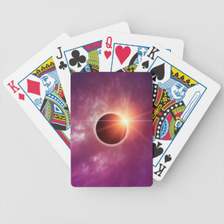 Solar Eclipse Bicycle Playing Cards