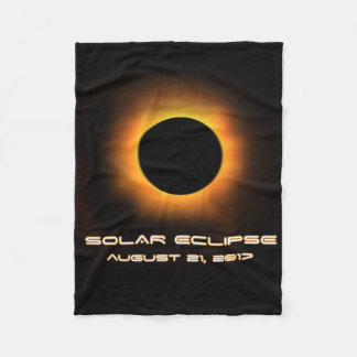 Solar Eclipse Fleece Blanket