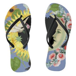 Solar Eclipse Flip-Flops Flip Flops