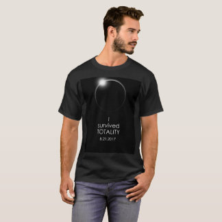 """Solar Eclipse """"I Survived Totality"""" black T-shirt"""