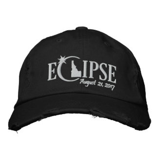Solar Eclipse in Idaho - August 21, 2017 Embroidered Hat