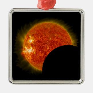 Solar Eclipse in Progress Christmas Ornament