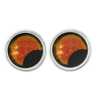 Solar Eclipse in Progress Cuff Links