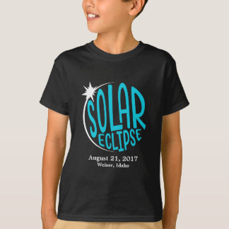 Solar Eclipse Kids - Customize with own City/State T-Shirt
