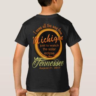 Solar Eclipse - Michigan to TN Kid's Shirts