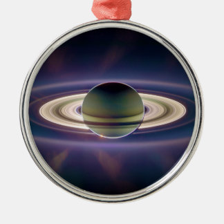 Solar Eclipse Of Saturn from Cassini Spacecraft Christmas Ornament