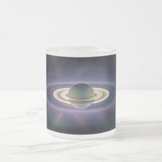 Solar Eclipse Of Saturn from Cassini Spacecraft 10 Oz Frosted Glass Coffee Mug