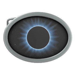 Solar Eclipse Oval Belt Buckle