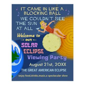 Solar Eclipse Party Funny Retro Sun Viewing 2017
