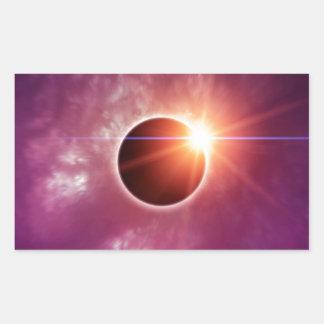 Solar Eclipse Rectangular Sticker
