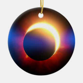 Solar Eclipse Round Ceramic Decoration