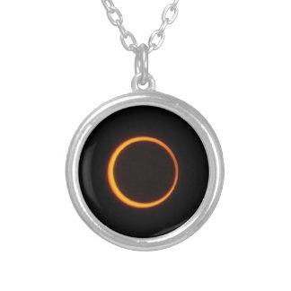 Solar Eclipse Round Pendant Necklace