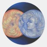 Solar Eclipse Round Sticker