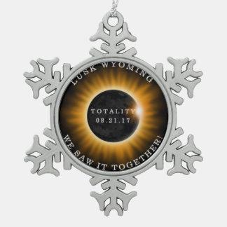 Solar Eclipse Snowflake Ornament Memorabilia
