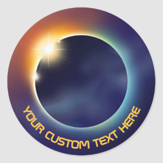 Solar Eclipse | Space Astronomy Classic Round Sticker