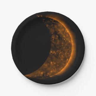 Solar Eclipse Transit Paper Plate