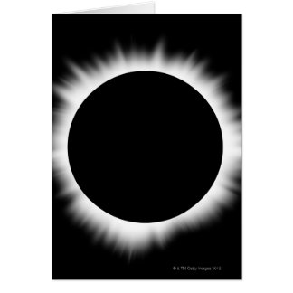 Solar Eclipse with Corona Card