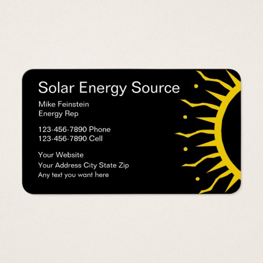 Solar Energy Business Cards