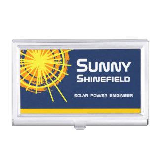 Solar Energy Engineer customizable Business Card Holders