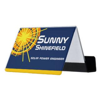 Solar Energy Engineer customizable Desk Business Card Holder