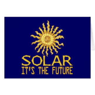 Solar Energy Future Note Card