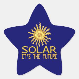 Solar Energy Future Star Sticker
