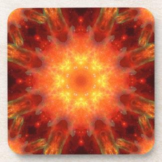 Solar Energy Portal Mandala Drink Coaster