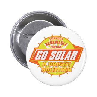 Solar Energy Solution 6 Cm Round Badge