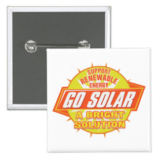 Solar Energy Solution 15 Cm Square Badge