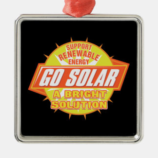 Solar Energy Solution Silver-Colored Square Decoration