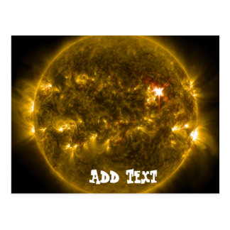 Solar Energy Sun Flare Eruption Fireball Postcard