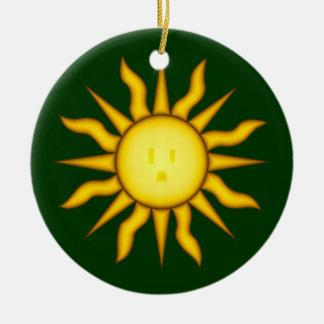 Solar Energy Sun Glyph Ornament