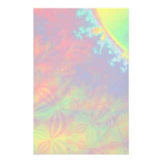 Solar Flare Fractal. Colorful Abstract. Stationery
