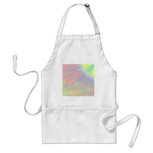 Solar Flare Fractal. Colourful Abstract. Standard Apron