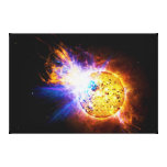 Solar Flare from the Star EV Lacertae EV Lac Gallery Wrapped Canvas