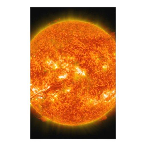 Solar Flare or Coronal Mass Ejection on Sun Flyer Design
