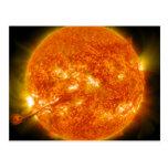 Solar Flare or Coronal Mass Ejection on Sun Postcard