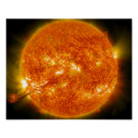 Solar Flare or Coronal Mass Ejection on Sun Poster