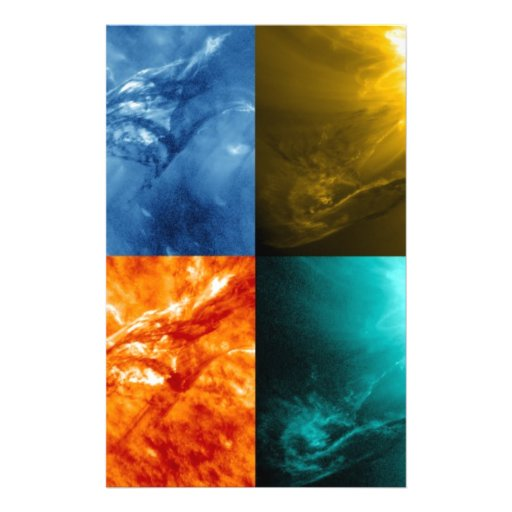 Solar Flare or Coronal Mass Ejection Sun Collage Full Color Flyer