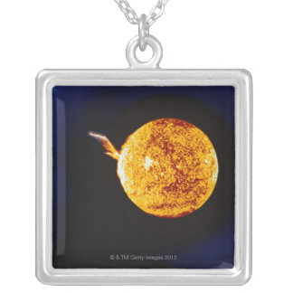 Solar Flare Silver Plated Necklace