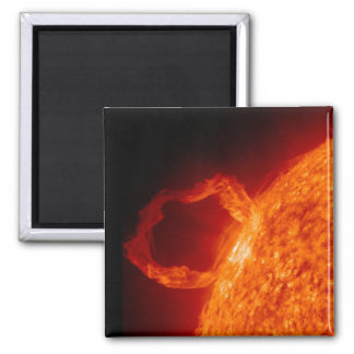 Solar Flare Square Magnet