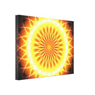 Solar Flares Flower Mandala Canvas Print