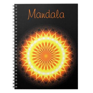 Solar Flares Mandala | Template Text! :) Note Book