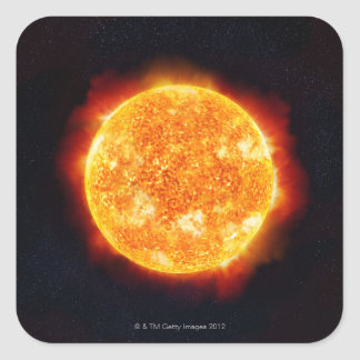 Solar Flares Square Sticker