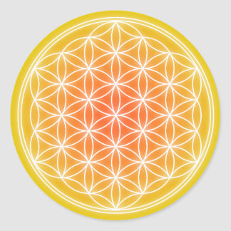 Solar Flower 0.1 Classic Round Sticker
