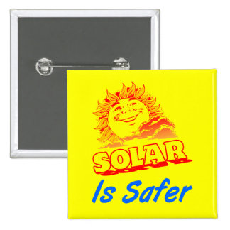 Solar is Safer Energy Slogan Button