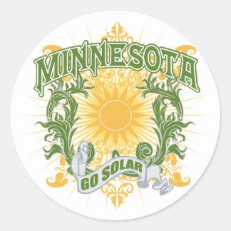 Solar Minnesota Classic Round Sticker