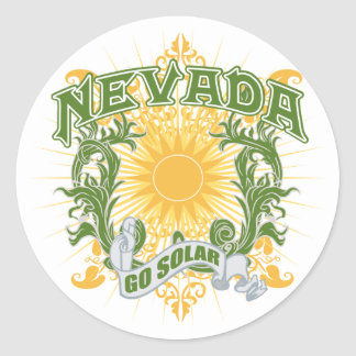Solar Nevada Classic Round Sticker