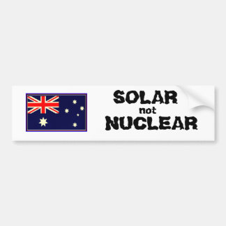 SOLAR NOT NUCLEAR BUMPER STICKER
