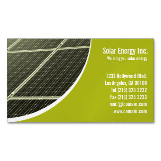 Solar Panel Business Card Magnets Magnetic Business Cards (Pack Of 25)